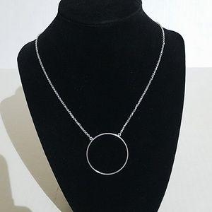 Lele Sadoughi silver cicle necklace 1y1